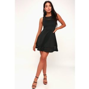 Lulus Final Stretch Black Dress